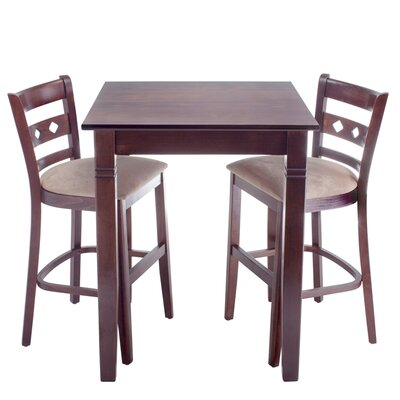 Yablonski 3 Piece Pub Table Set