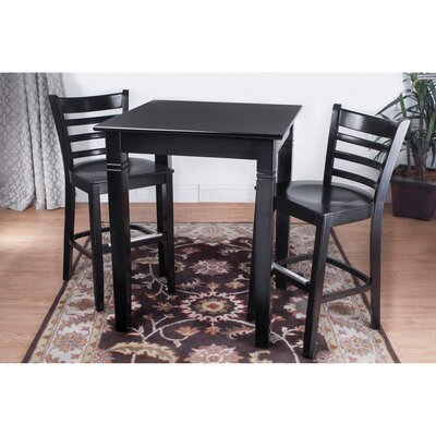 Ladderback 3 Piece Pub Table Set
