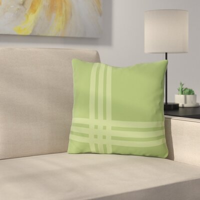 Billington Sand Outdoor Throw Pillow Color: Olive