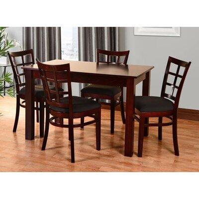 Laszakovits 5 Piece Dining Set Color: Dark Mahogany