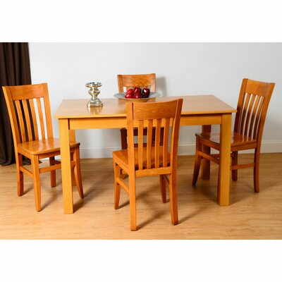 5 Piece Dining Set Color: Cherry