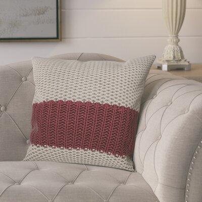 Girton Throw Pillow Color: Gray/Burgundy