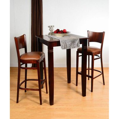 Triangle 3 Piece Pub Table Set Finish: Medium Oak