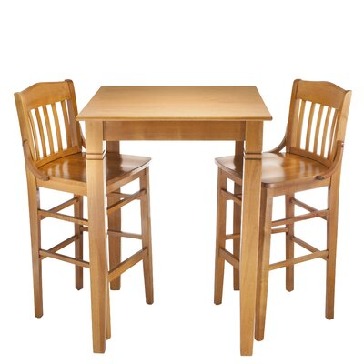 Kershaw 3 Piece Pub Table Set Finish: Cherry