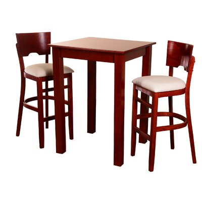 Upholstered 3 Piece Pub Table Set