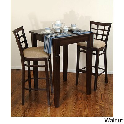 Laszakovits 3 Piece Pub Table Set Finish: Walnut
