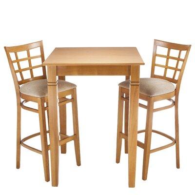 Laszakovits 3 Piece Pub Table Set Finish: Cherry