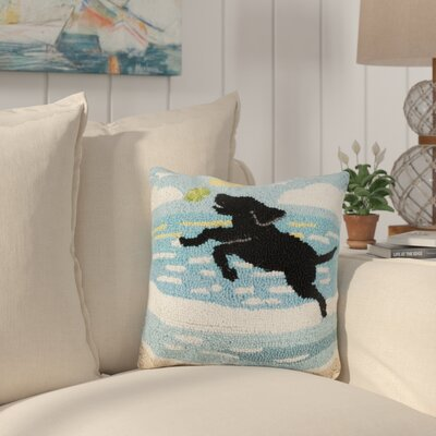 Hinton Dog Catch Wool Throw Pillow