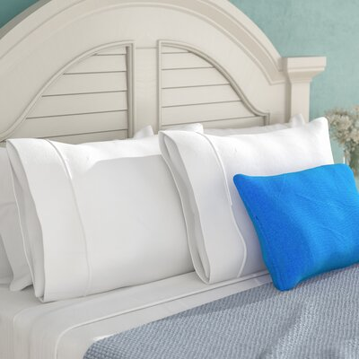 Campfield 500 Thread Count Pillowcase Size: Standard, Color: White
