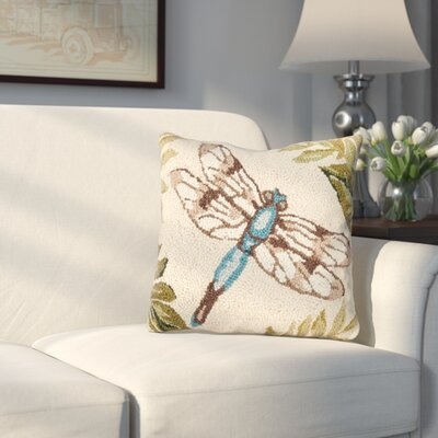 Fridley Dragonfly Wool Throw Pillow