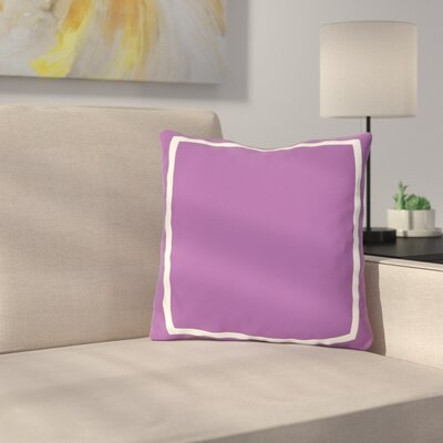 Biller Simple Square Outdoor Throw Pillow Color: Purple, Size: 16