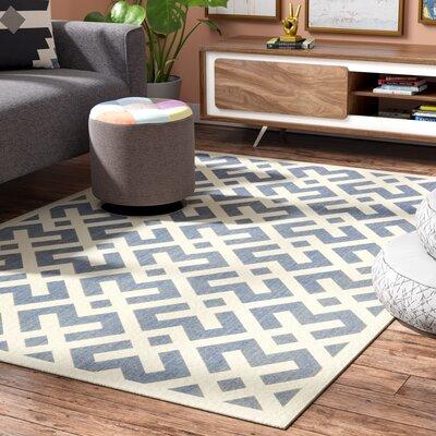 Quinlan Blue Indoor/Outdoor Area Rug Rug Size: Rectangle 53 x 77