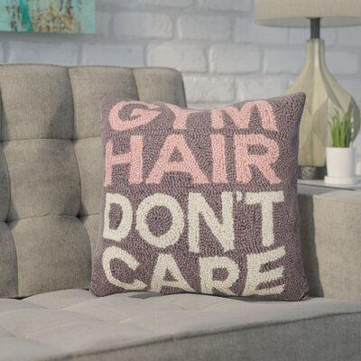 Durazo Gym Hair Dont Care Wool Throw Pillow