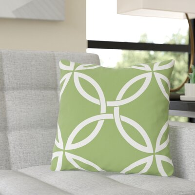 Jenkintown Interwoven Circles Outdoor Throw Pillow Color: Olive