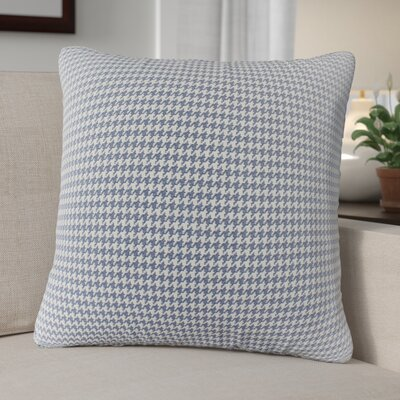 Ebersole Plaid Indoor/Outdoor Throw Pillow Color: Blue