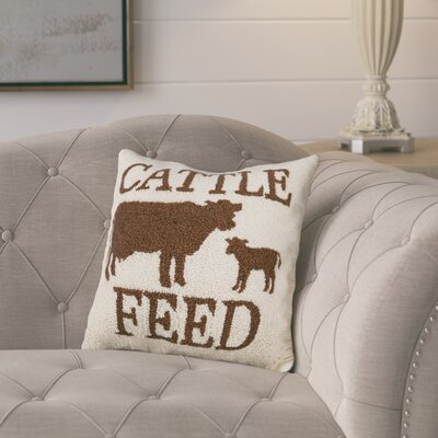 Westlake Cattle Feed Wool Throw Pillow