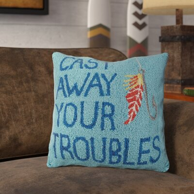 Ranney Cast Away Troubles Wool Throw Pillow