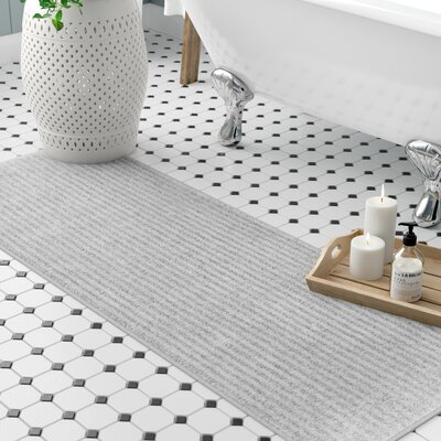Lucille Bath Rug Size: Runner 22 x 60, Color: Platinum Gray