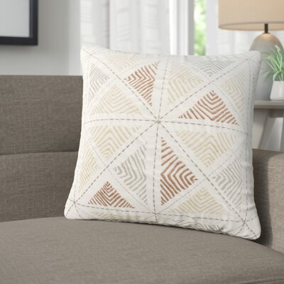 Banach Embroidered Cotton Throw Pillow Color: Red