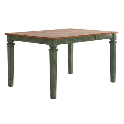 Osio Counter Height Extendable Dining Table Base Color: Antique Sage