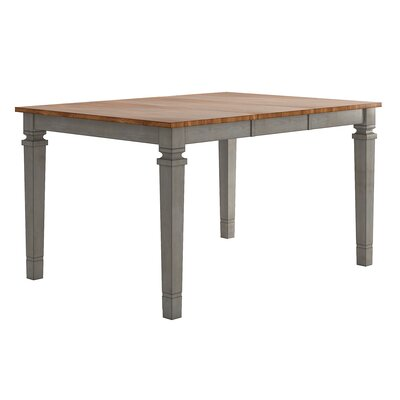 Osio Counter Height Extendable Dining Table Base Color: Antique Gray