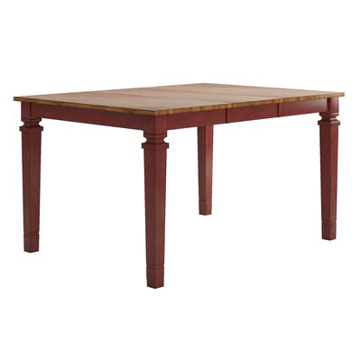 Osio Counter Height Extendable Dining Table Base Color: Antique Cherry