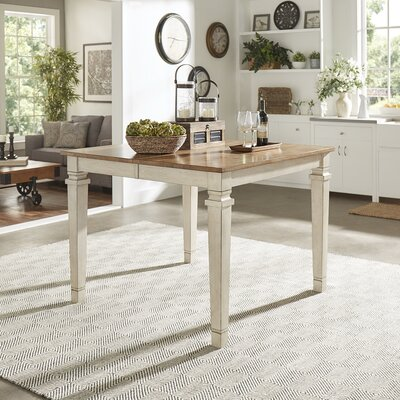 Osio Counter Height Extendable Dining Table Base Color: Antique White