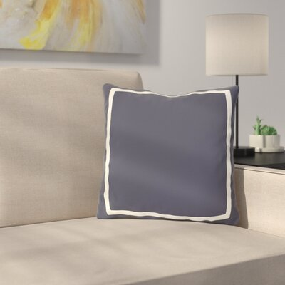 Biller Simple Square Outdoor Throw Pillow Color: Navy, Size: 18 x 18