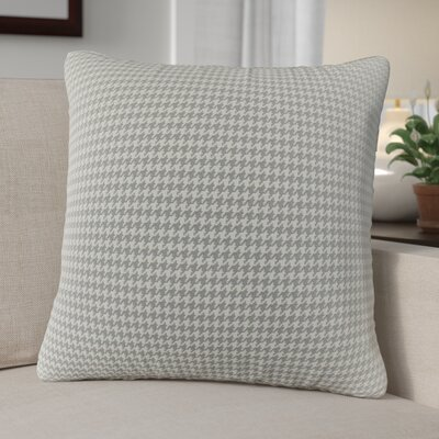 Ebersole Plaid Indoor/Outdoor Throw Pillow Color: Gray