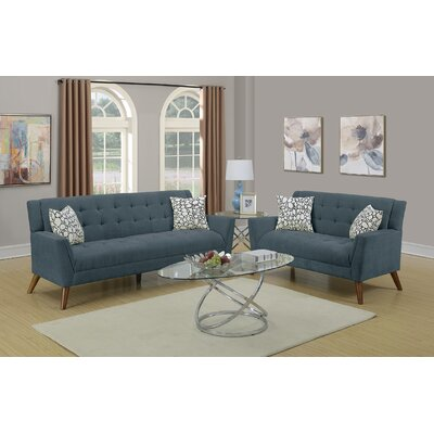 Lucey 2 Piece Living Room Set Upholstery: Slate
