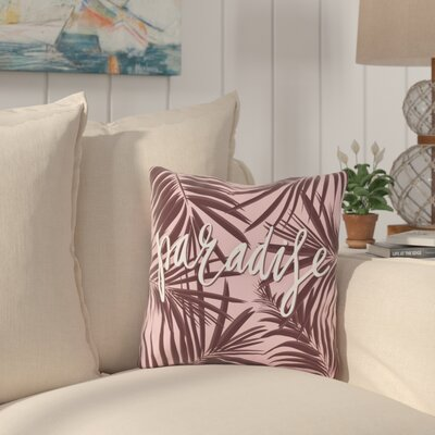 Eldridge Paradise Palms Outdoor Throw Pillow Size: 18 x 18