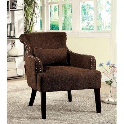 Kameron Armchair Upholstery: Brown