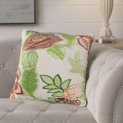 Gamache Floral Leaf Cotton Throw Pillow
