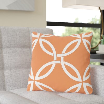 Jenkintown Interwoven Circles Outdoor Throw Pillow Color: Tangerine