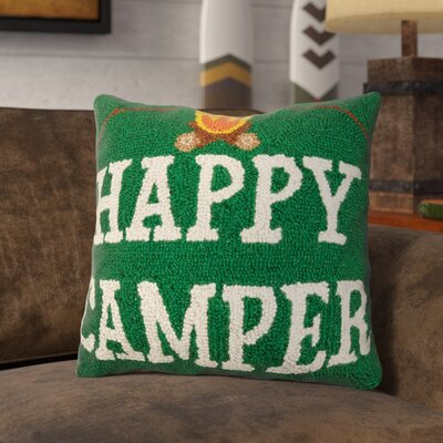 Reynosa Happy Camper Campfire Wool Throw Pillow