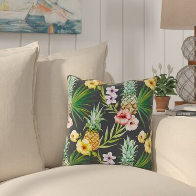 Hartnell Pineapples Outdoor Throw Pillow Size: 16 x 16