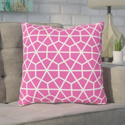 Alcock Outdoor Throw Pillow Color: Pink