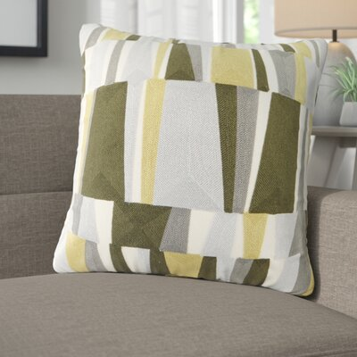 Bendel Embroidered Throw Pillow Color: Green