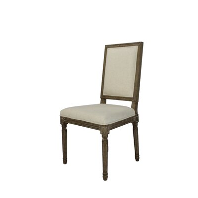 Auclair Weathered Upholstered Dining Chair Upholstery: Beige
