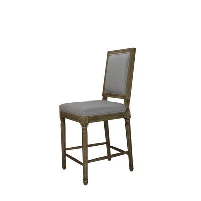 Auclair 24 Bar Stool Upholstery: Gray