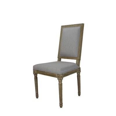Auclair Weathered Upholstered Dining Chair Upholstery: Gray