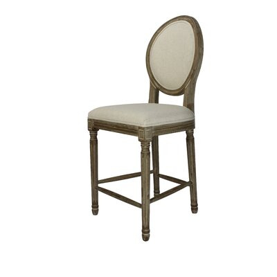 Auclair 24 Bar Stool Upholstery: Beige