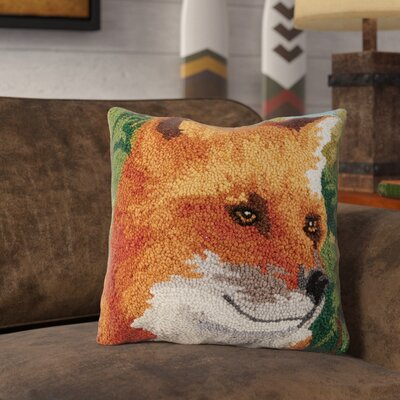 Ratley Forest Fox Wool Throw Pillow