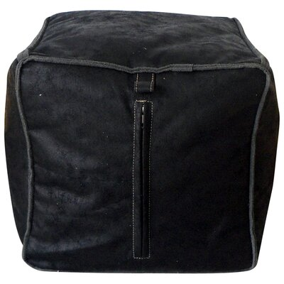 Tannehill Pouf Leather Type: Black