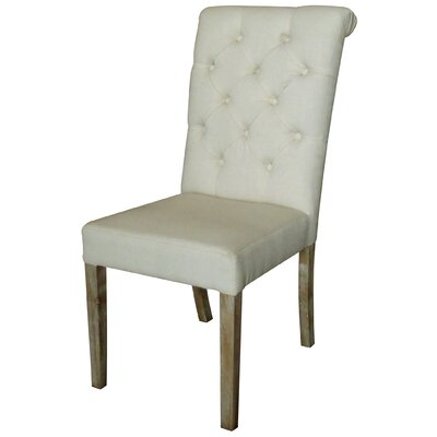 Stanly Rolled Upholstered Dining Chair Upholstery: Beige