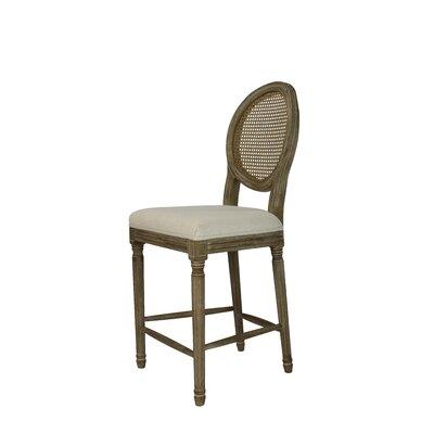 Auclair 24 Bar Stool Upholstery: Cane Beige