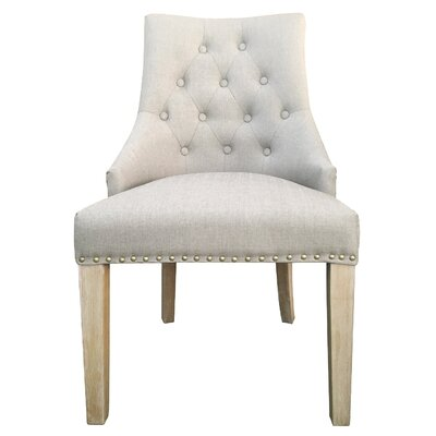 Trott French Upholstered Dining Chair Upholstery: Beige