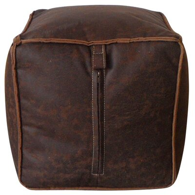 Tannehill Pouf Leather Type: Brown