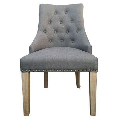Trott French Upholstered Dining Chair Upholstery: Gray