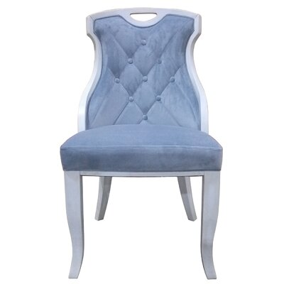 Trotman Velvet Serenity Upholstered Dining Chair Upholstery Color: Serenity Blue